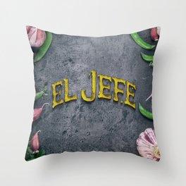 EL JEFE Throw Pillow