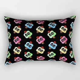 Cupcake With A Cherry On Top Pattern Black Rectangular Pillow