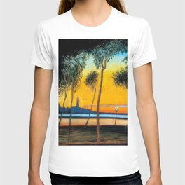 Naples, Italy Mediterranean Sunset landscape by Csontváry Kosztka Tivadar T-shirt