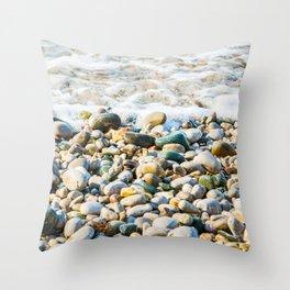 Seastones Throw Pillow