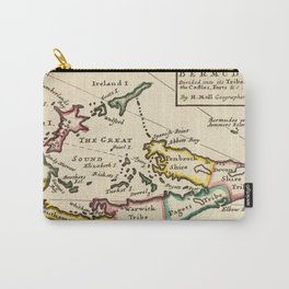 Vintage Map of Bermuda (1736) Carry-All Pouch
