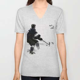 The Deke - Hockey Player Unisex V-Neck