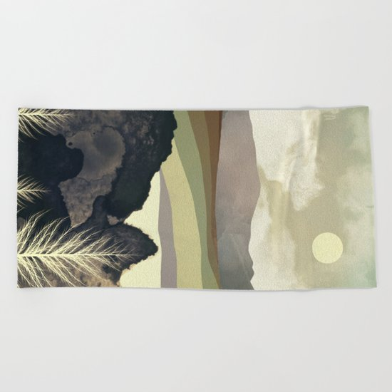 Retro Afternoon Beach Towel