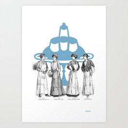 old fashioned cooking Art Print