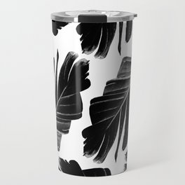 Tropical Black Banana Leaves Dream #1 #decor #art #society6 Travel Mug