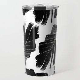 Tropical Black Banana Leaves Dream #1 #decor #art #society6 Travel Mug