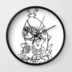 Shark's submarine Wall Clock
