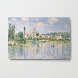 Vetheuil in Summer 1880 by Claude Monet Metal Print