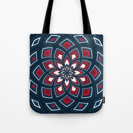 Spiral Rose Pattern D 1/4 Tote Bag