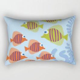 Fish School Rectangular Pillow