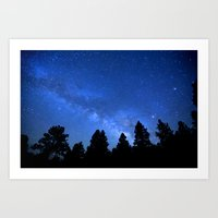 milky way Art Prints featuring Milky Way by 2sweet4words Designs