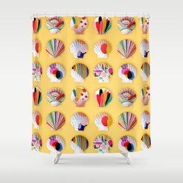 Rainbow Print Shells Shower Curtain