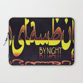 Istanbul By Night Skyline Cityscape Typography Laptop Sleeve