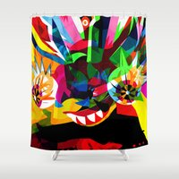 diablo Shower Curtains featuring diablo 2 by Alvaro Tapia Hidalgo