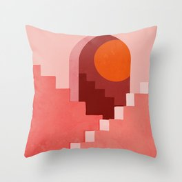 Abstraction_SUN_Architecture_Minimalism_001 Throw Pillow