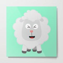 Cute Sheep kawaii Bxu64 Metal Print