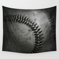 baseball Wall Tapestries featuring Baseball by Christy Leigh