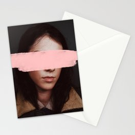 Portrait of a Woman Blushing. Stationery Cards