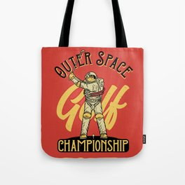 Outer Space Golf Championship Tote Bag
