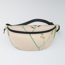 Tiny green branch with Latin words Fanny Pack