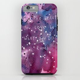 let the beauty you love be what you do iPhone Case