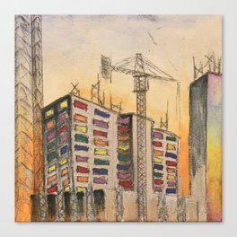 Construction Site #2 Canvas Print