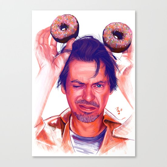 Steve Buscemi and donuts Canvas Print