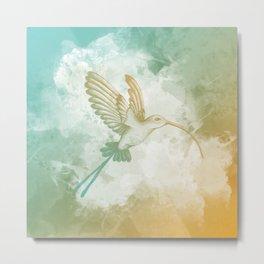 Colorful little bird Metal Print