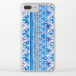 Watercolor Whimsical Pattern Clear iPhone Case
