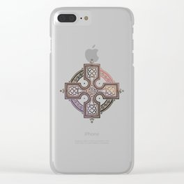 St. Patrick's Day Celtic Red Cross Clear iPhone Case