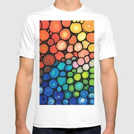 River's Edge - Colorful Mosaic abstract by Labor of Love artist Sharon Cummings. T-shirt