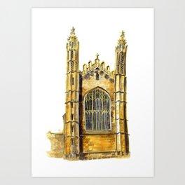 King's College Chapel / University of Cambridge / Cambridge, England Fine art Giclee Print Art Print