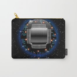 Electronic Motherboard Circuit Sphere Globe Carry-All Pouch