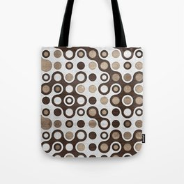 Geometric Pattern -  Wood and Golden Texture Tote Bag