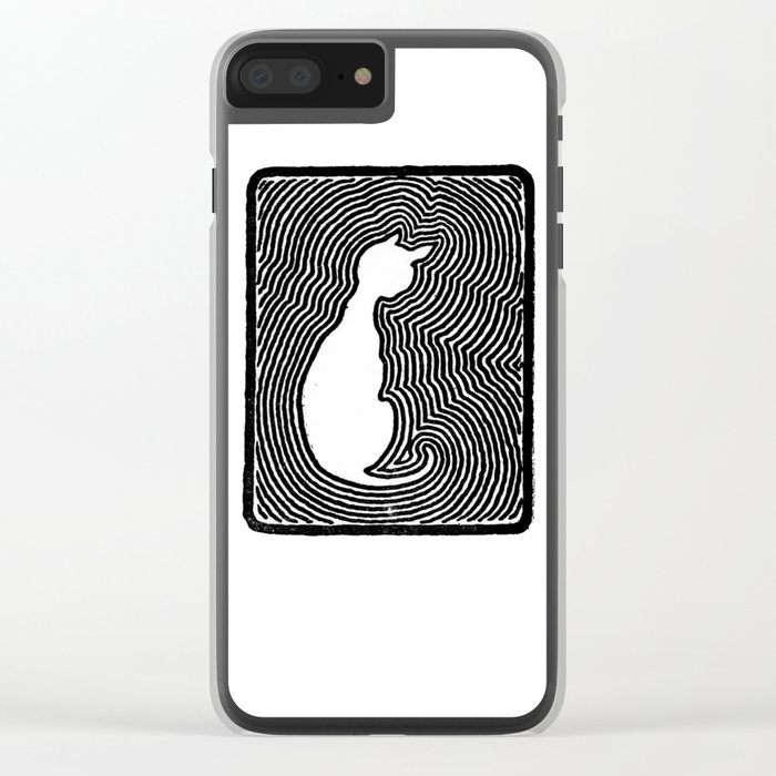Cat eco. Clear iPhone Case