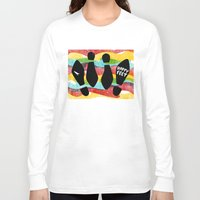 feet Long Sleeve T-shirts featuring Happy Feet by Derek Eads