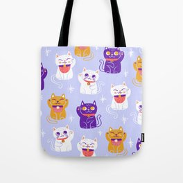 Lucky Waving Kitty Cat Maneki Neko Tote Bag