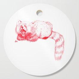 Red Panda Yawning Cutting Board