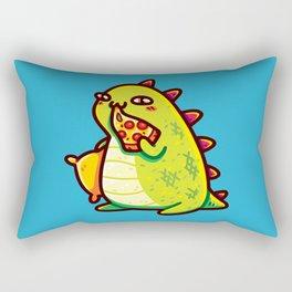 Cute T-Rex Eating Pizza Rectangular Pillow