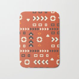 American native shapes in red Bath Mat
