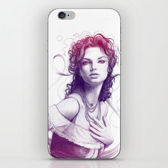 Beautiful Girl Portrait iPhone & iPod Skin