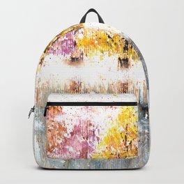 Watercolor Little Forest Illustration Backpack