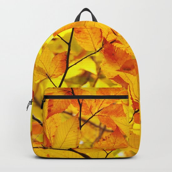 Indian Summer - Yellow Autumn Fall Leaves Backpack