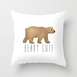 Beary Cute Throw Pillow