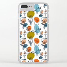 Pattern in Nordic Floral Style #6 Clear iPhone Case