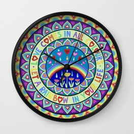 Love is a Rainbow Mandala Wall Clock