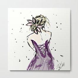 The Purple Dress Metal Print