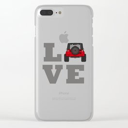 love 4x4 offroad trail Clear iPhone Case