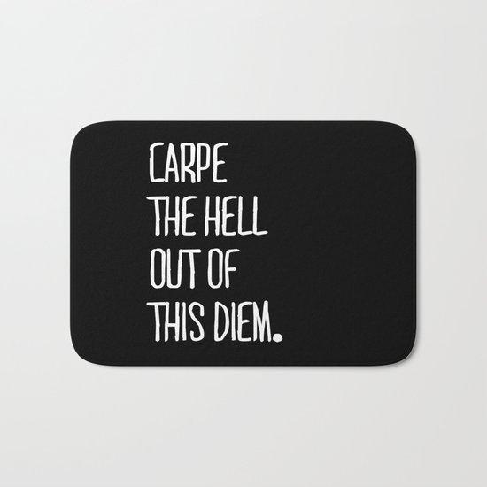 Carpe Diem ///www.pencilmeinstationery.com Bath Mat