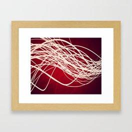 Linear Flow-Red Complex Framed Art Print